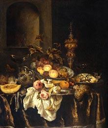 Still Life, c.1665 von Abraham Beyeren | Gemälde-Reproduktion