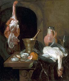 Preparations for a Meal, 1664 von Abraham Beyeren | Gemälde-Reproduktion