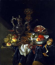 Still Life with a Silver Wine Jug | Abraham Beyeren | Painting Reproduction