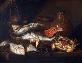 Still Life with Fish, undated von Abraham Beyeren | Gemälde-Reproduktion