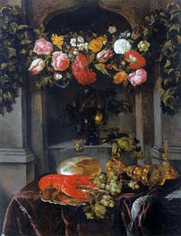 Pronk Still Life (Glorification of Wine), c.1650 von Abraham Beyeren | Gemälde-Reproduktion