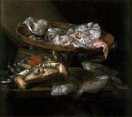 Still Life with Plaices and Crabs, c.1646/55 von Abraham Beyeren | Gemälde-Reproduktion