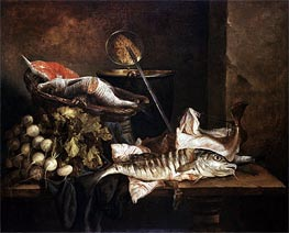 Still Life with Fish, c.1650 von Abraham Beyeren | Gemälde-Reproduktion