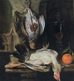 A Still Life with a Partridge, 1664 von Abraham Beyeren | Gemälde-Reproduktion