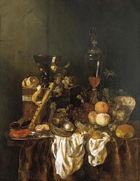 Still Life with Fruit and Sumptuous Objects, c.1655 von Abraham Beyeren | Gemälde-Reproduktion