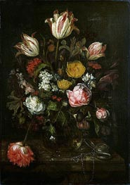 Still Life with Flowers, 1670 by Abraham Beyeren | Painting Reproduction