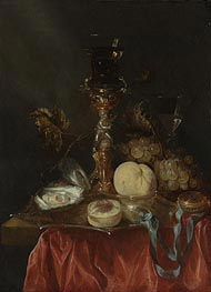Still Life with a Silver Gilt Cup with a Roemer, Undated by Abraham Beyeren | Painting Reproduction