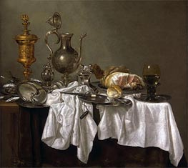 Still Life with a Nautilus Cup, c.1653/54 by Abraham Beyeren | Painting Reproduction