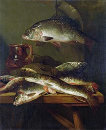 Still Life with Carp, Undated by Abraham Beyeren | Painting Reproduction