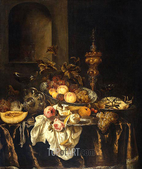 Still Life, c.1665 | Abraham Beyeren | Painting Reproduction