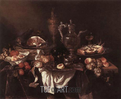 Banquet Still-Life, c.1655 | Abraham Beyeren | Painting Reproduction