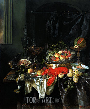 Still Life, 1666 | Abraham Beyeren| Painting Reproduction