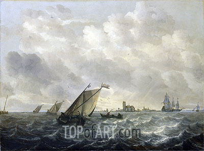 River View, c.1650/70 | Abraham Beyeren| Painting Reproduction