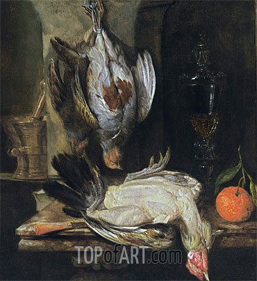 Abraham Beyeren | A Still Life with a Partridge, 1664