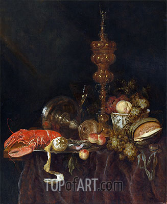 Abraham Beyeren | Still Life with Lobster and Fruit, c.1650/60