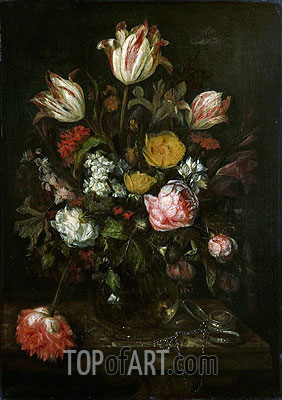 Still Life with Flowers, 1670 | Abraham Beyeren| Painting Reproduction