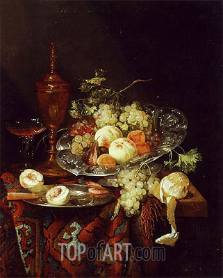 Still Life with Fruit, c.1660 | Abraham Beyeren| Painting Reproduction