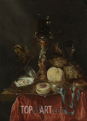 Abraham Beyeren | Still Life with a Silver Gilt Cup with a Roemer,
