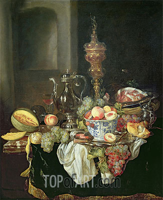 Still Life - Banquey Piece,  | Abraham Beyeren| Painting Reproduction