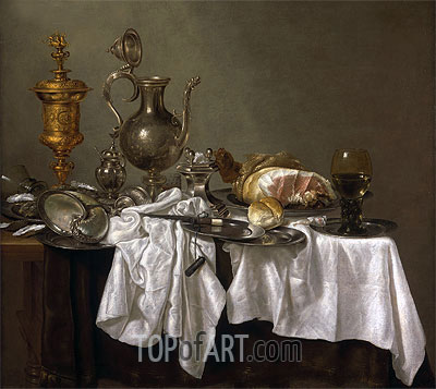 Still Life with a Nautilus Cup, c.1653/54 | Abraham Beyeren | Painting Reproduction