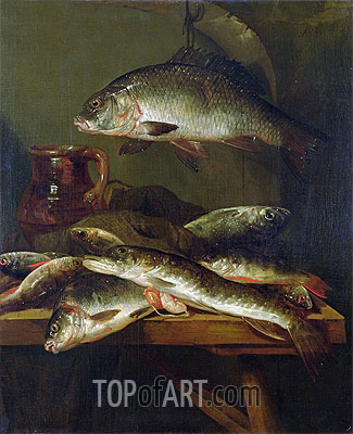 Still Life with Carp,  | Abraham Beyeren | Painting Reproduction