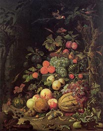 Still Life, undated by Abraham Mignon | Painting Reproduction
