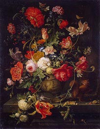 Vase of Flowers | Abraham Mignon | Painting Reproduction