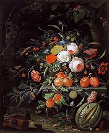 Still Life with Flowers and Fruit | Abraham Mignon | Gemälde Reproduktion