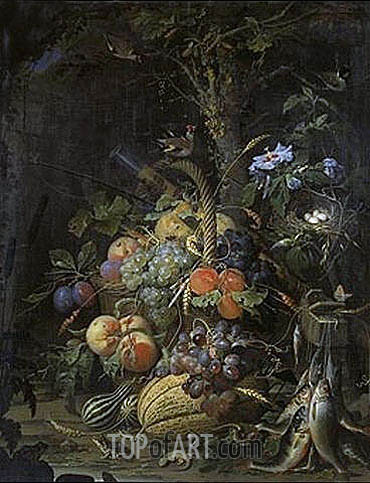 The Fruit Basket, undated | Abraham Mignon| Gemälde Reproduktion