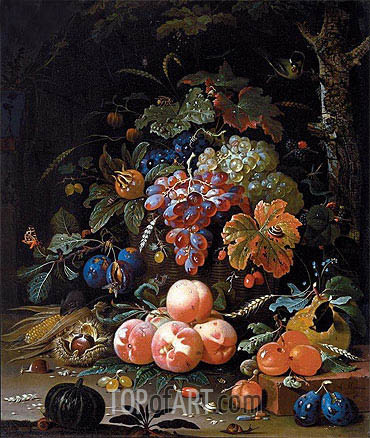 Still Life with Fruits, undated | Abraham Mignon| Painting Reproduction