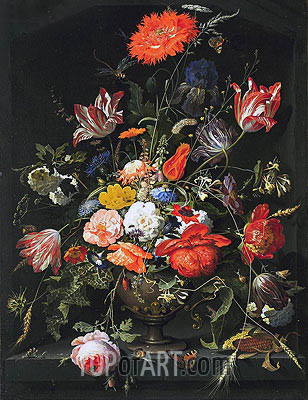 Summer Flowers, c.1660/80 | Abraham Mignon | Gemälde Reproduktion