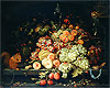 Still Life with Fruit, Squirrel and Goldfinch | Abraham Mignon