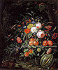 Still Life with Flowers and Fruit | Abraham Mignon