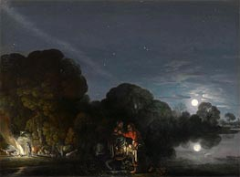 The Flight to Egypt, 1609 by Adam Elsheimer | Painting Reproduction