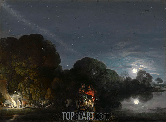 The Flight to Egypt, 1609 | Adam Elsheimer | Painting Reproduction