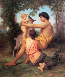 Idyll: Family from Antiquity, 1860 von Bouguereau | Gemälde-Reproduktion