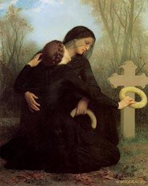 Le jour des morts (All Saints' Day) | Bouguereau | Painting Reproduction