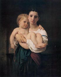 The Elder Sister, undated von Bouguereau | Gemälde-Reproduktion