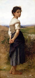 The Young Shepherdess, 1885 von Bouguereau | Gemälde-Reproduktion