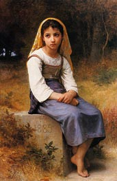 Meditation, 1885 by Bouguereau | Painting Reproduction