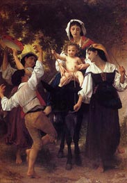 Return from the Harvest, 1878 von Bouguereau | Gemälde-Reproduktion