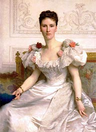 Portrait of Madame la Comtesse de Cambaceres, 1895 by Bouguereau | Painting Reproduction