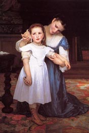 The Shell, 1871 by Bouguereau | Painting Reproduction