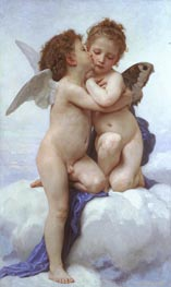 Cupid and Psyche as Children, 1889 by Bouguereau | Painting Reproduction