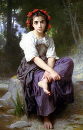 At the Edge of the River, 1875 by Bouguereau | Painting Reproduction