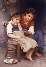 The Little Sulk, 1888 by Bouguereau | Painting Reproduction
