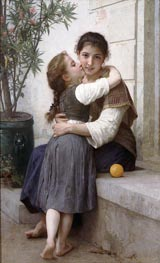 A Little Coaxing, 1890 by Bouguereau | Painting Reproduction