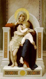 The Virgin, the Baby Jesus and St. John the Baptist, 1875 by Bouguereau | Painting Reproduction