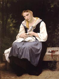 Young Worker, 1869 by Bouguereau | Painting Reproduction