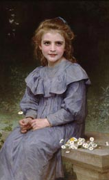 Daisies, 1894 by Bouguereau | Painting Reproduction